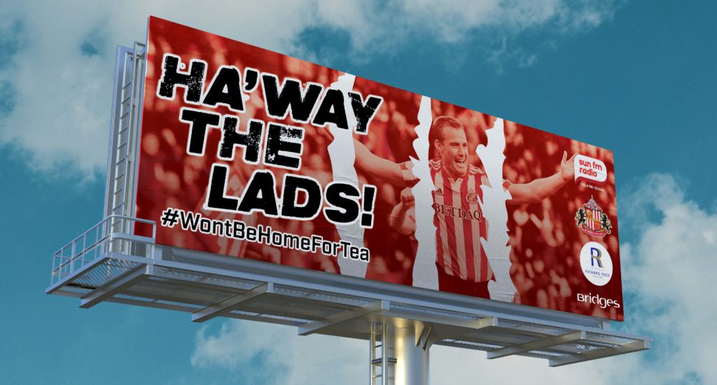 Sunderland United FC Billboard Advert Example